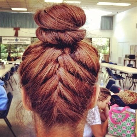 cute braided hairstyles going into a bun for black people upside down french braid into bun braid hairstyles