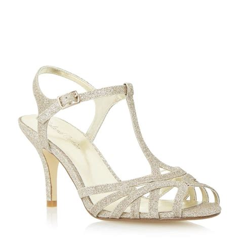 gold strappy mid heel sandals 17 best images about prom shoes on low heel
