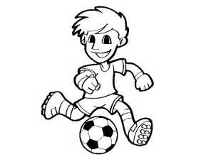 Desenho de jogador de futebol com bola para colorir colorir com