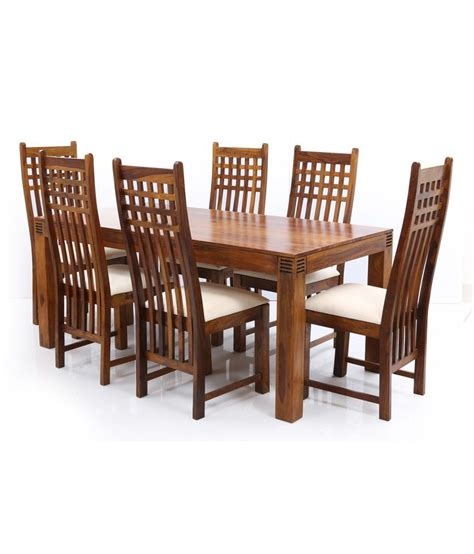 10 Trending Dining Table Models You Should Try Ethnic India Nia Sheesham Wood 6 Seater Dining Set Buy Ethnic India Nia Sheesham Wood