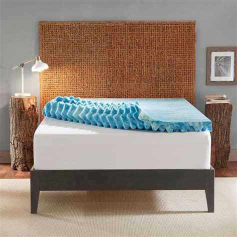 Memory Foam Mattress Support by Sleep Innovations 4 Inch Plush Support Gel Memory Foam Mattress Topper With Air