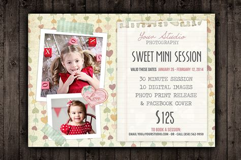 Valentine Marketing Mini Session Psd Flyer Templates Creative Market Free Mini Session Templates