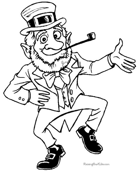 printable leprechaun images leprechaun coloring pages free printable coloring sheets