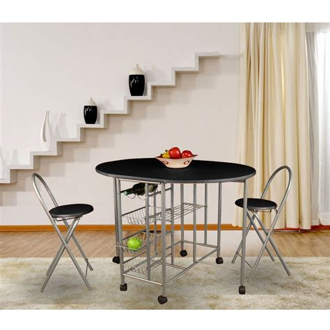 Folding Kitchen Table And Chairs Set Wooden Folding Dining Set Drop Leaf Kitchen Table And 4 Chairs Black