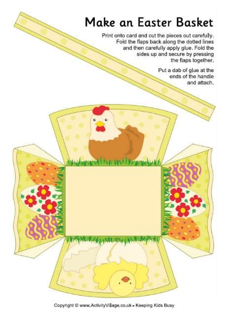 printable paper easter egg baskets easter basket printable