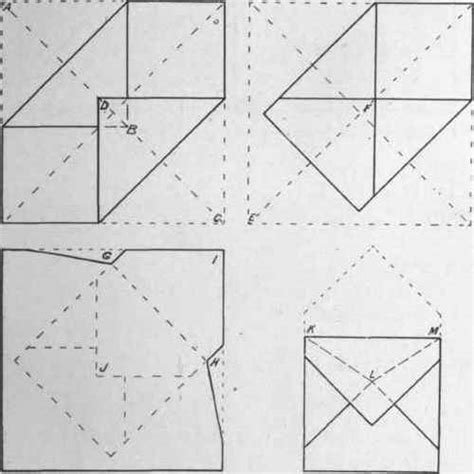How To Make Paper Envelope - steps in square envelope pictures
