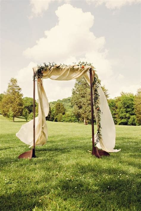 Wedding Arch Wooden by Wooden Arch W Fabric Wedding Weddings Pinsland Https