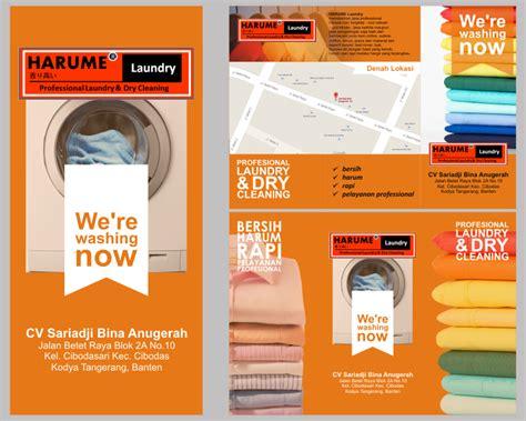 desain brosur laundry gallery desain brosur untuk quot harume laundry quot