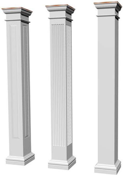 home columns architectural structural columns square fluted tuscan columns