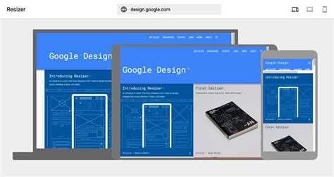google design tool google resizer responsive web design mobile testing tool