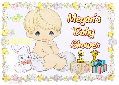 Precious Moments Baby Shower by Cake Toppers For Baby Shower Precious Moments