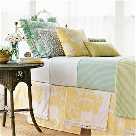 diy bed skirt at home with the hiestands fantabulous friday no sew