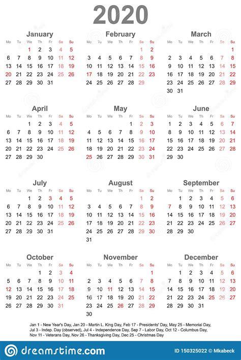 calendario simples   feriados  eua ilustracao  vetor ilustracao de glance