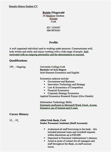 Exles Of A Resume by Cover Letter Exles 16 Year 28 Images Cover Letter For