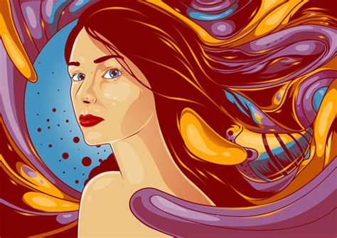 tutorial vector art photoshop cs6 create a flowing vexel illustration in photoshop