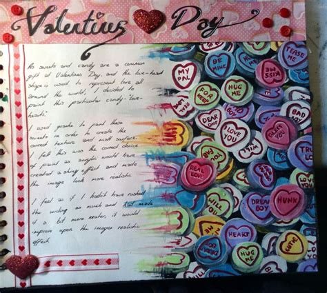 sketchbook page ideas sketchbook page on valentines day journal themed