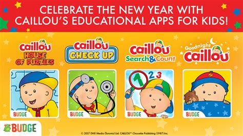 caillou new year news caillou