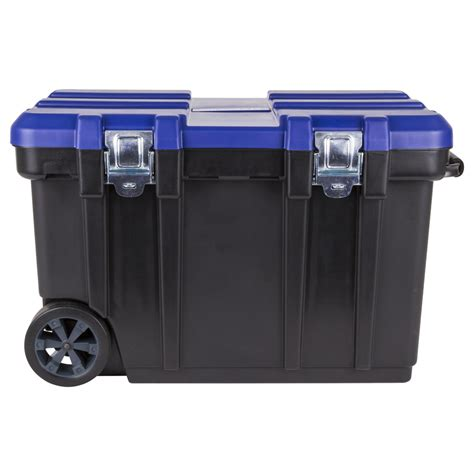 Wheels Box shop kobalt 30 5 in black plastic lockable wheeled tool