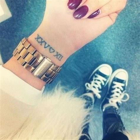 nice tattoo numbers 32 elegant number wrist tattoos design