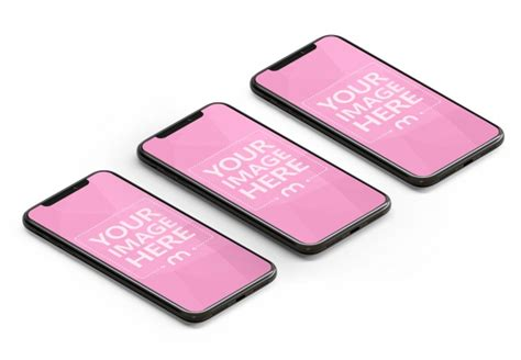 black iphone  screens mockup mediamodifier