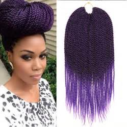 ombre senegalese twists braiding hair 18 quot ombre purple crochet braids kanekalon braiding hair