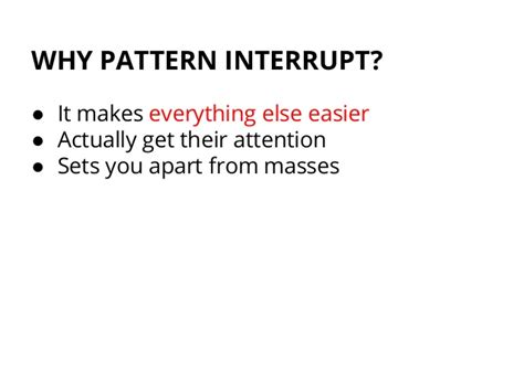 Pattern Interrupt Definition | how to boost customer engagement with an intro to