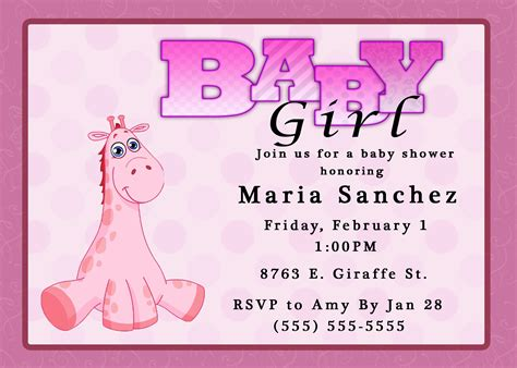 invites for baby shower girl baby girl baby shower invitations theruntime com