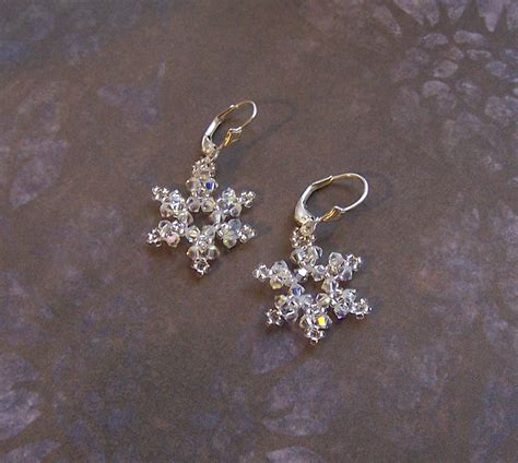 snowflake earring pattern snowflake earrings tutorial other files arts and crafts