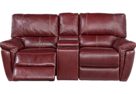 red leather loveseat recliner browning bluff red leather reclining console loveseat