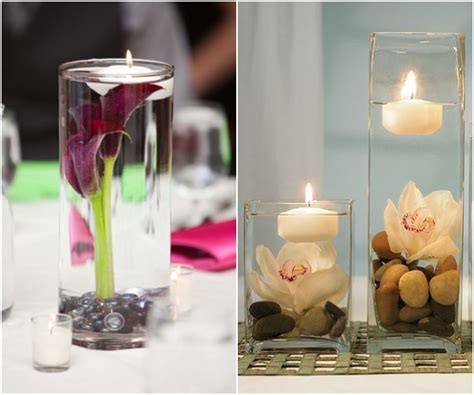 wedding centerpieces with candles and water candle centerpieces for weddings archives deer pearl flowers