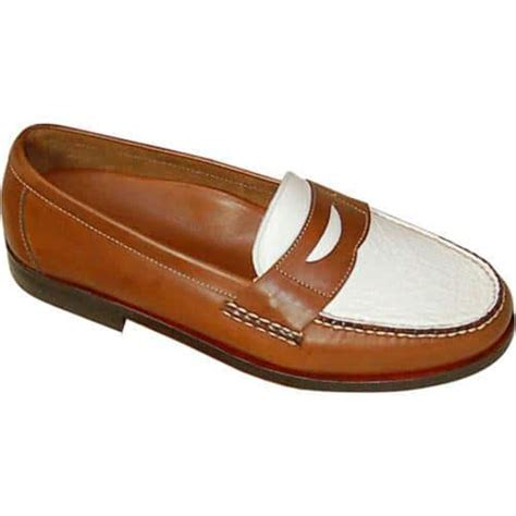 brown and white loafers s david spencer shag loafer waxy white