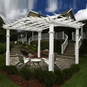Lowes Outdoor Pergolas by New England Arbors Va42039 Eden Riviera Pergola Lowe S