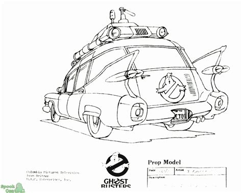 ghostbusters car coloring pages ghostbusters ecto 1 coloring pages