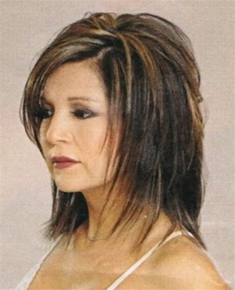 pictures of stylish medium long shag haircuts for women over 50 medium shaggy layered hairstyles