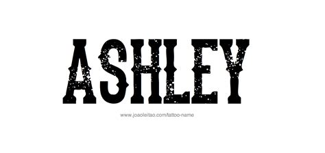 ashley tattoo name designs
