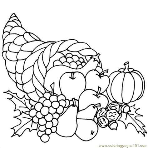cornucopia printable coloring page thanksgiving cornucopia coloring page free breakfast