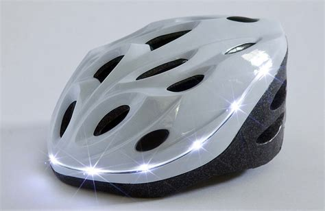 bicycle helmet with built in lights bright helmet integrates 360 186 visibility w molded led