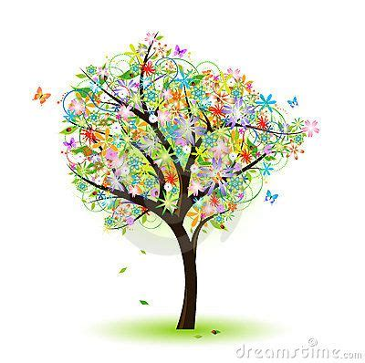 colorful tree colorful tree dreamstime