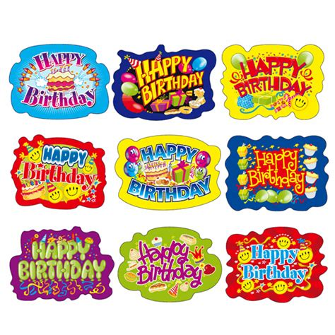 Birthday Stickers For