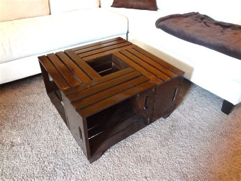 Rustic Crate Coffee Table Shabby Chic Made Crate Coffee Table Rustic Coffee Table Crate Table I Think I Can Do