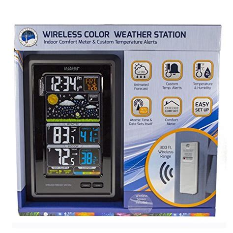 la crosse wireless color weather station aginghomesafely