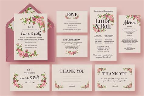 wedding invitation card suite with flower templates 50 wonderful wedding invitation card design sles