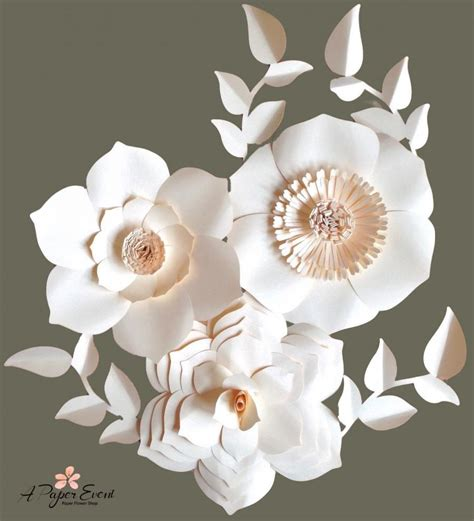 Wedding Flower Paper Centerpiece by Sale Paper Flower Backdrop Paper Flowers