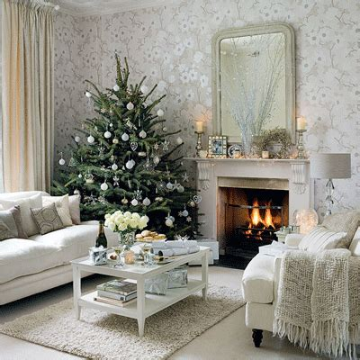 decorative trees for living room 2010 decorating trends silver snow