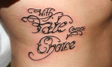 fate tattoo 33 inspirational quote tattoos to consider