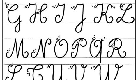 lettere corsive maiuscole alphabet 233 cole maternelle gellow