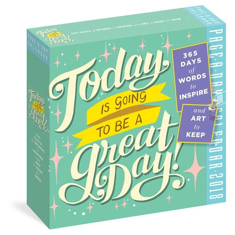 page a day desk calendar 2018 today is going to be a great day page a day calendar 2018
