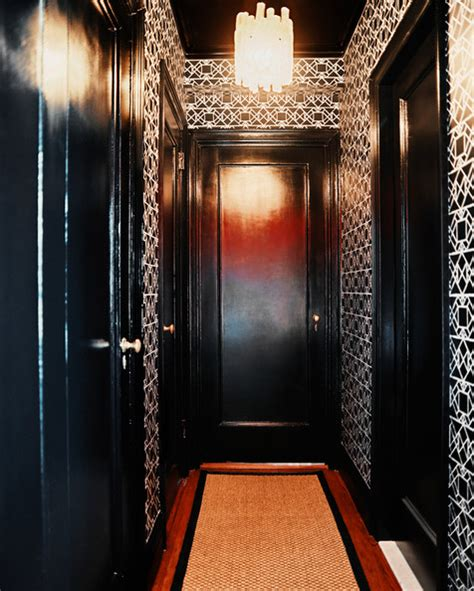 gold wallpaper hallway hallway rug photos 4 of 7 lonny