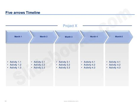 3 month timeline template timelines calendars in powerpoint