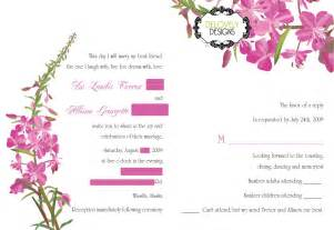 card wedding invitations design wedding invitation sle